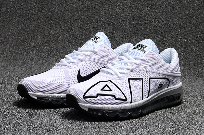 chaussures jogging course nike air max plus flair white black